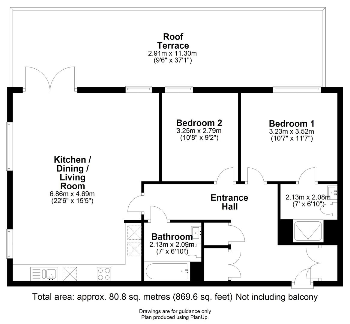 Floor plan Beacon Rise, 160 Newmarket Road, Cambridge